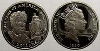 10 Dollars 1990 Cook-Inseln Elizabeth II. seit 1952. Polierte Platte  7,00 EUR  +  5,00 EUR shipping