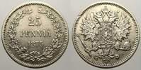 25 Penniä 1 1875  S Russland Zar Alexander...