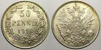 50 Penniä 1 1916  S Russland Zar Nikolaus ...
