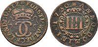 Cu-4 Pfennig 1730, Arols Hessen Karl Augus...