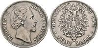 5 Mark 1876 D. BAYERN, KÖNIGREICH Ludwig I...