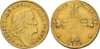 1/2 Karolin (5 Gulden) 1733 GK,  Ernst Lud...