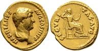 Aureus 134/138, Kaiserliche Prägungen Hadr...