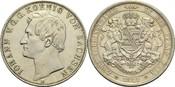 Vereinsdoppeltaler 1861 B Sachsen Johann 1854-1873 vz