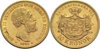 10 Kronen 1895 Schweden Oscar II. ss+
