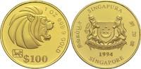 100 Dollars (1 Unze) 1994 Singapur Republi...