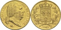 20 Francs 1817 W Frankreich Ludwig XVIII. ...
