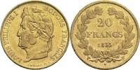 20 Francs 1833 W Frankreich Louis Philippe...