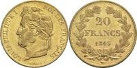 20 Francs 1845 W Frankreich Louis Philippe...