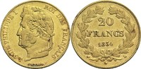 20 Francs 1834 L Frankreich Louis Philippe...