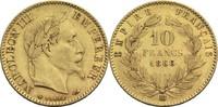 10 Francs 1866 BB Frankreich Napoleon III....