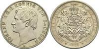 Vereinsdoppeltaler 1861 B Sachsen Johann 1...