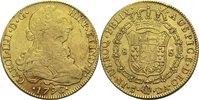 8 Esudos 1796 DA Chile Karl IV. ss