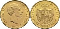 25 Pesetas 1878 Spanien Alfonso XII. vz