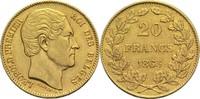 20 Francs 1865 Belgien Leopold I. ss