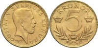 5 Kronen 1920 Schweden Gustav V. vz+