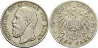 5 Mark 1895 G Baden, Großherzogtum Friedri...