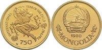 750 Tugrik 1980 Mongolei Republik PP, berührt