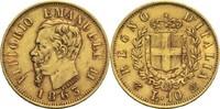 10 Lire 1863 Italien / Sardinien Viktor Em...