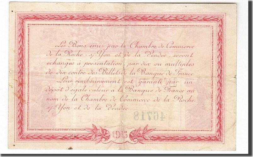1 franc 1915 france banknote pirot 65 17 la roche sur yon au 50 53 ma shops. Black Bedroom Furniture Sets. Home Design Ideas