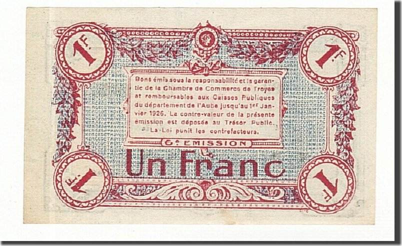 1 franc france banknote pirot 124 12 troyes unc 63 ma shops. Black Bedroom Furniture Sets. Home Design Ideas