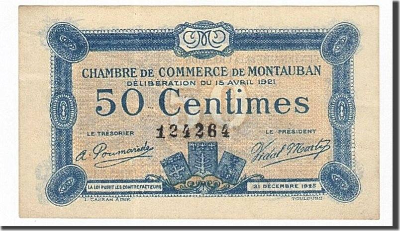 50 centimes 1921 france banknote pirot 83 17 montauban for Chambre de commerce montauban