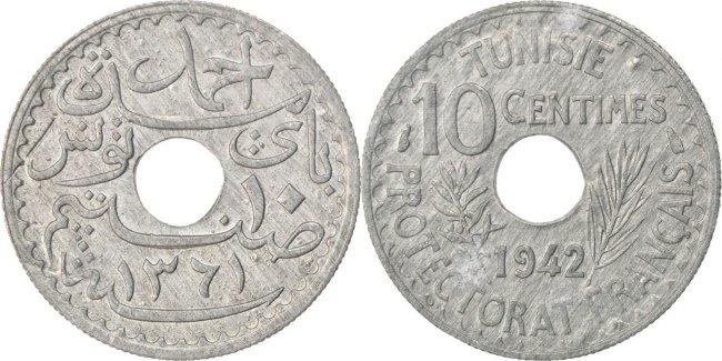 1942 Tunisia 10 Centime 1 Coin Only Many Available High Grade