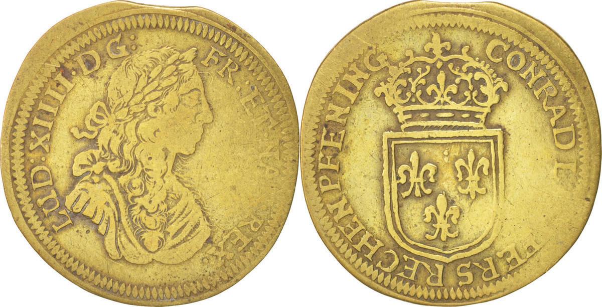 "Jeton de Nuremberg, Louis XIV ""HANS.VL.HOR.AVFS.RECH.PFENN"" ... Combined402403"