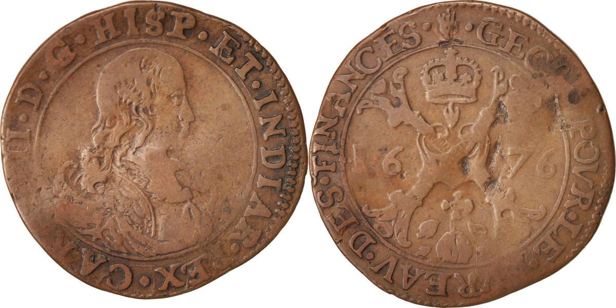 token 1676 spanish netherlands belgium charles ii anvers bureau des finances vf 20 25 ma shops. Black Bedroom Furniture Sets. Home Design Ideas