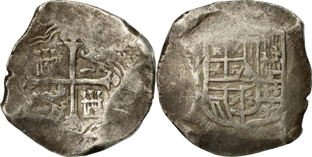 8 Reales Mexico Coin Philip II Silver VF30 35
