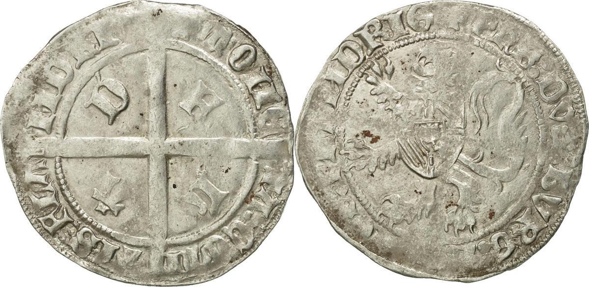 Double Gros France Coin Flanders Silver Boudeau2260 Ef40 45