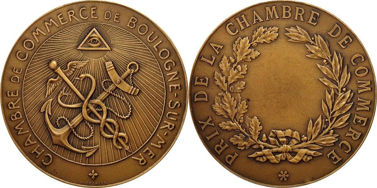 Medal France Prix De La Chambre De Commerce De Boulogne Sr Mer