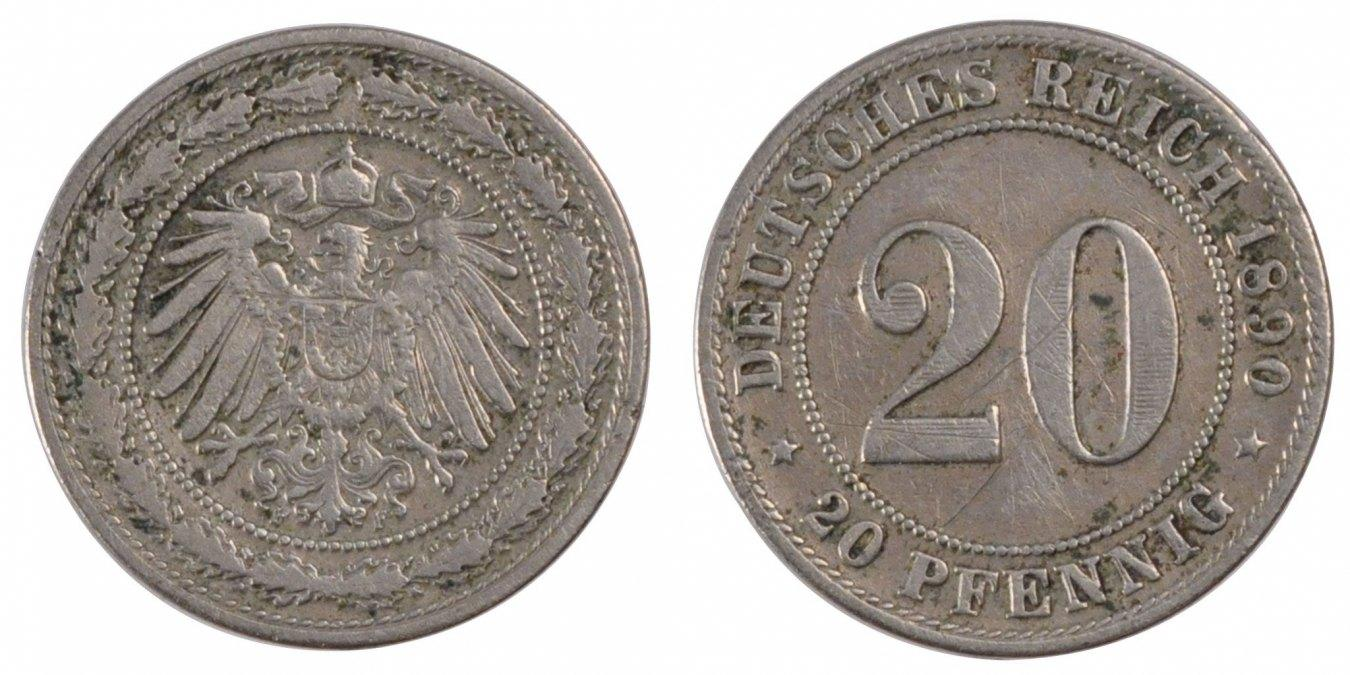 20 Pfennig 1890 D GERMANY