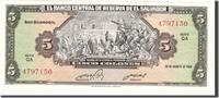 5 Colones 1983 El Salvador Foreign Banknot...