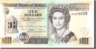 10 Dollars 2011 Belize Foreign Banknoten B...