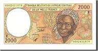 2000 Francs 2000 Zentralafrikanische Staat...