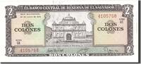 2 Colones 1976 El Salvador 1976-06-24, KM:...