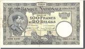 100 Francs-20 Belgas 1929 Belgien KM:102, ...