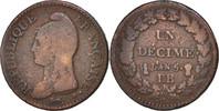 Decime 1796 BB Frankreich Dupré, Strasbour...