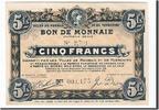 5 Francs 1916 Frankreich Roubaix et Tourco...