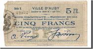 5 Francs 1914 Frankreich Auby, SS, Pirot:5...