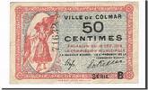 50 Centimes 1918 Frankreich Colmar, SS, Pi...