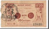 20 Centimes 1914 Frankreich Valenciennes, ...