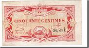 50 Centimes  Frankreich Bordeaux, SS, Piro...