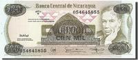 100,000 Córdobas on 500 Córdobas 1987 Nica...