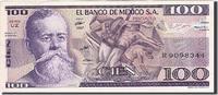 100 Pesos 1982 Mexiko KM:74c, 1982-03-25, ...