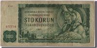 100 Korun 1961 Czechoslovakia Foreign Bank...