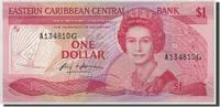 1 Dollar Undated (19 Osten Karibik Staaten...