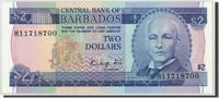 2 Dollars Undated (19 Barbados KM:36, UNZ UNZ