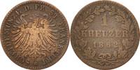 Kreuzer 1862 Frankf Deutsch Staaten  EF(40...
